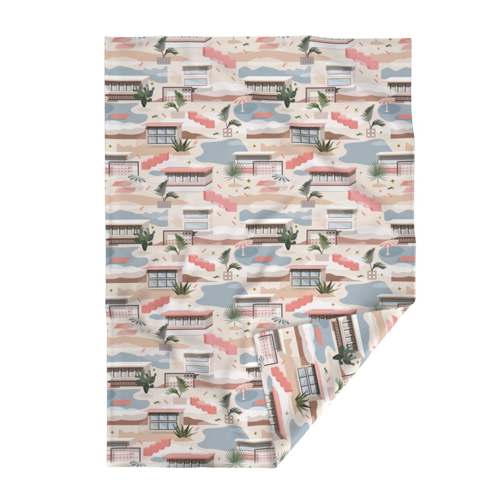 Lakenvelder Throw Blanket featuring Modern Oasis / Desert Modernism by evamatise