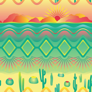 desert neon tribal modernism with cacti