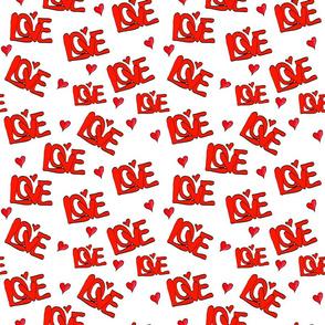 Retro 70s Love Love Love Pattern