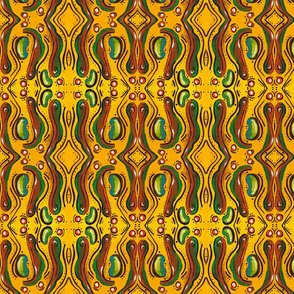 Yellow and Green Alien Seed Pattern