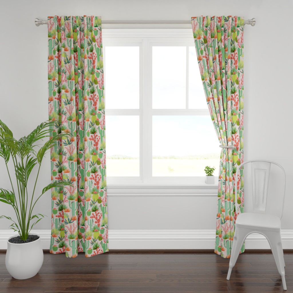 Plymouth Curtain Panel featuring Modern desert by vivdesign