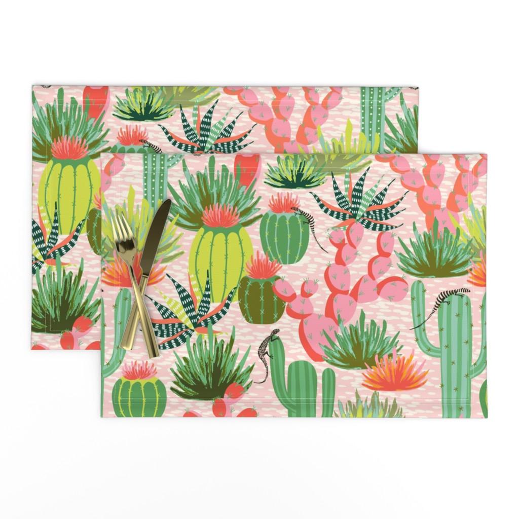 Lamona Cloth Placemats featuring Modern desert by vivdesign
