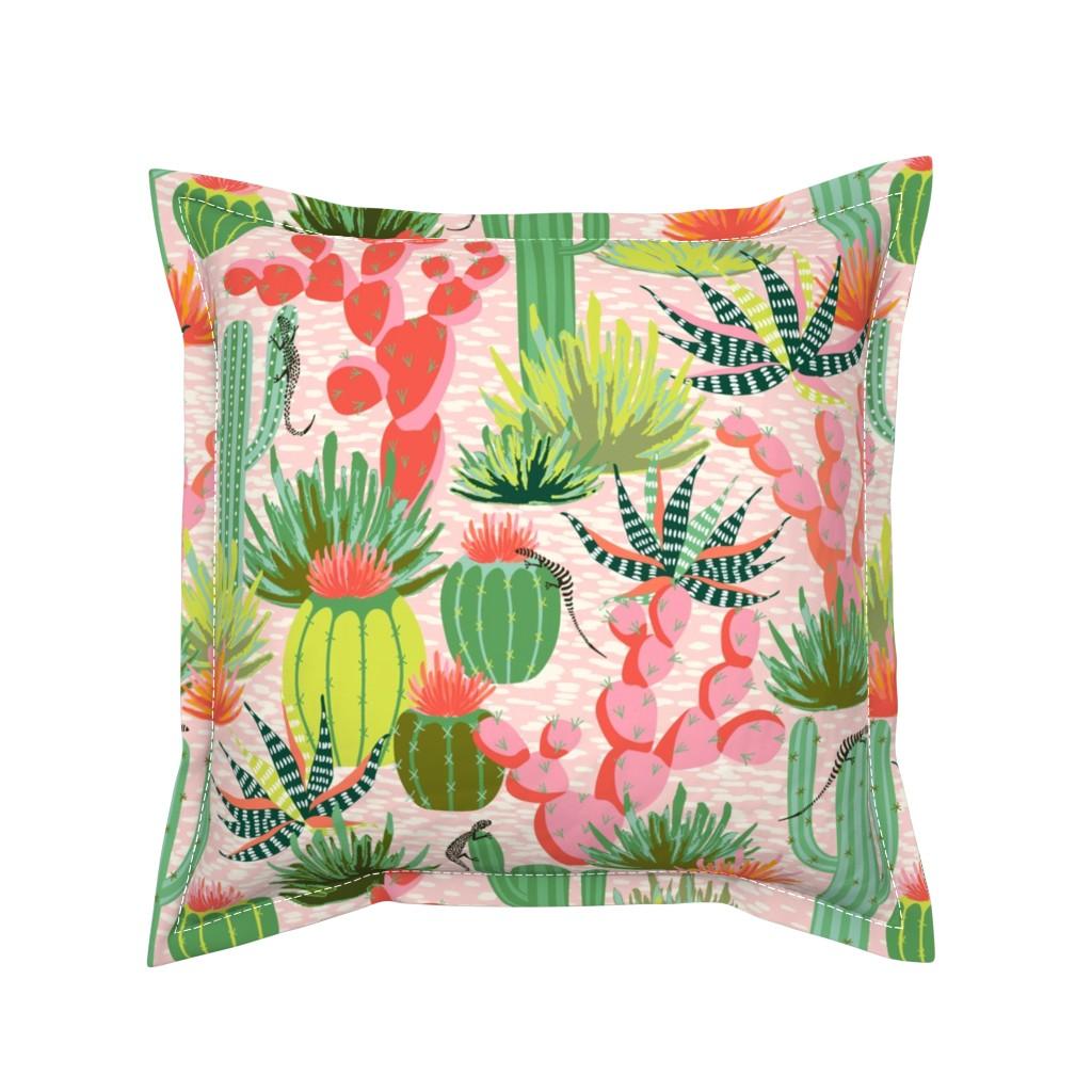 Serama Throw Pillow featuring Modern desert by vivdesign