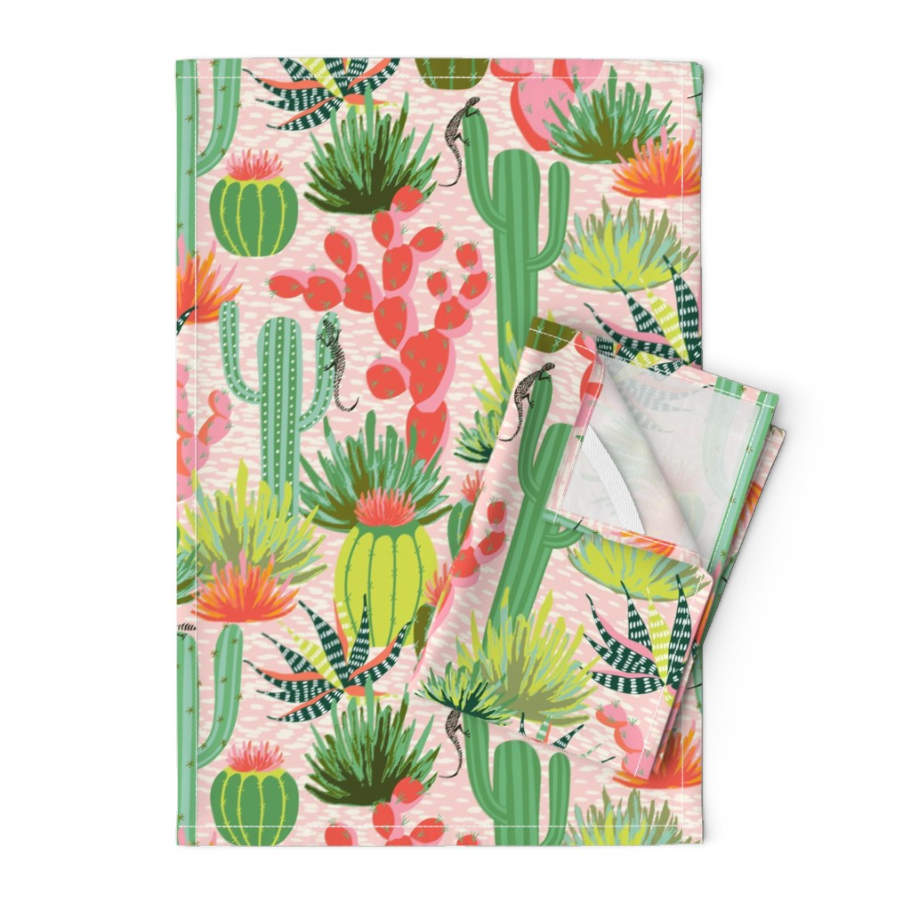 Orpington Tea Towels featuring Modern desert by vivdesign