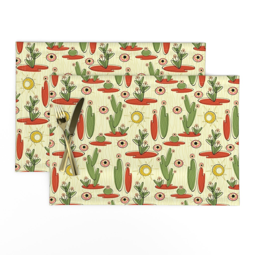 Lamona Cloth Placemats featuring Desert Abstract by studioxtine