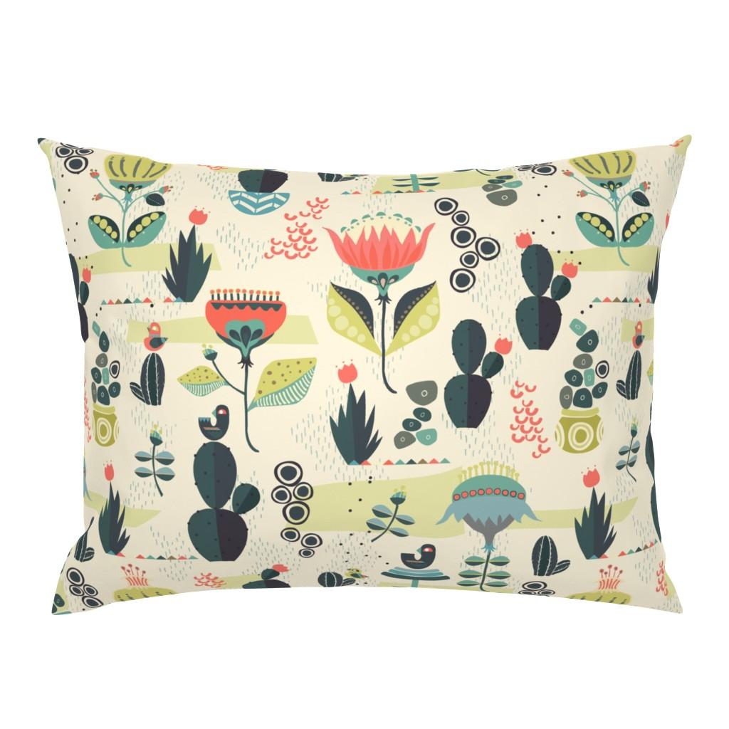 Campine Pillow Sham featuring Desert Florals by mintedtulip