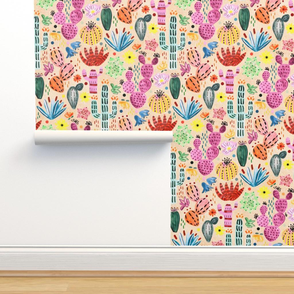 Isobar Durable Wallpaper featuring Fantasy Cacti  by tigatiga