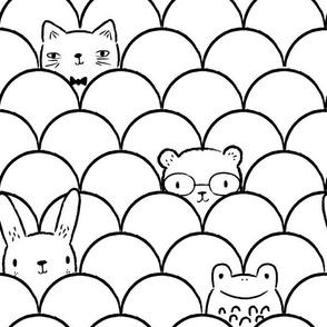 "Peek-a-boo Animals Medium 12"""