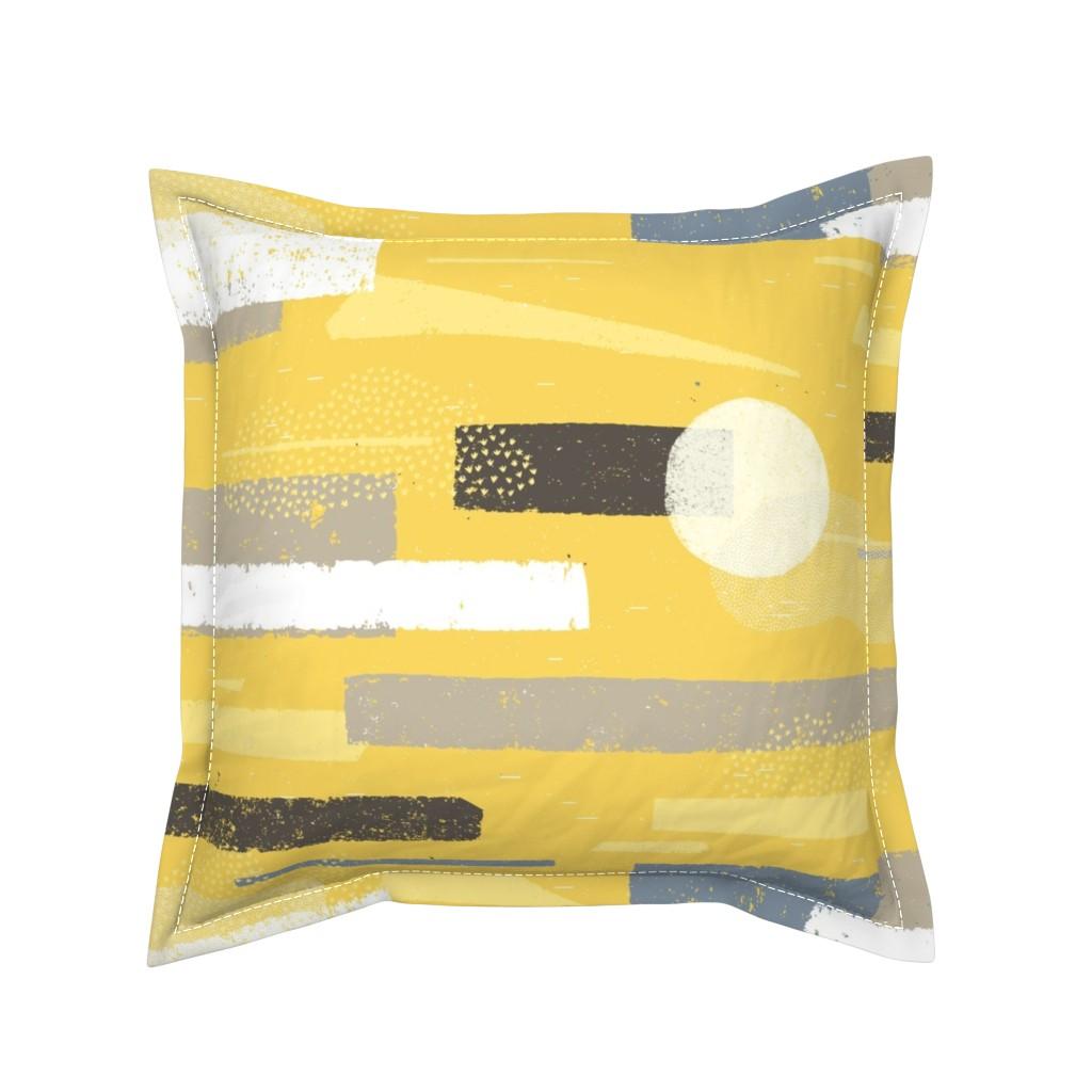 Serama Throw Pillow featuring Palo Verdes in Bloom M+M Yolk By Friztin by friztin