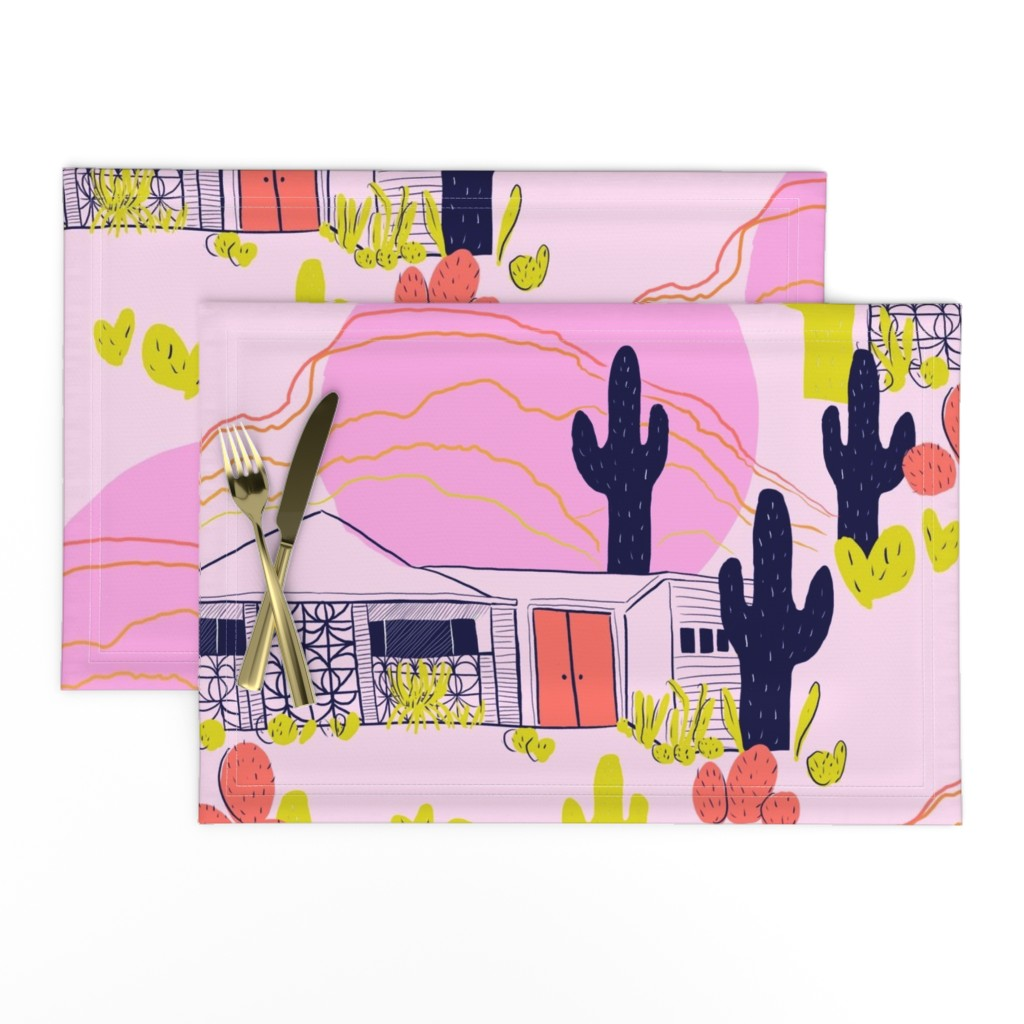 Lamona Cloth Placemats featuring Desert Modernism  by theartwerks