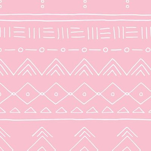 Minimal mudcloth bohemian ethnic abstract indian summer aztec design pink girls