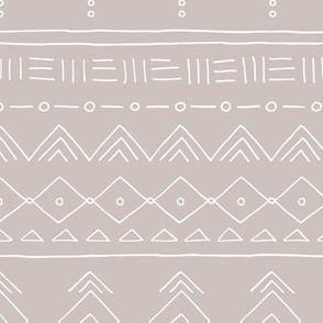 Minimal mudcloth bohemian ethnic abstract indian summer aztec design gender neutral beige