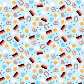Traditional german oktoberfest beer holiday illustration print SMALL