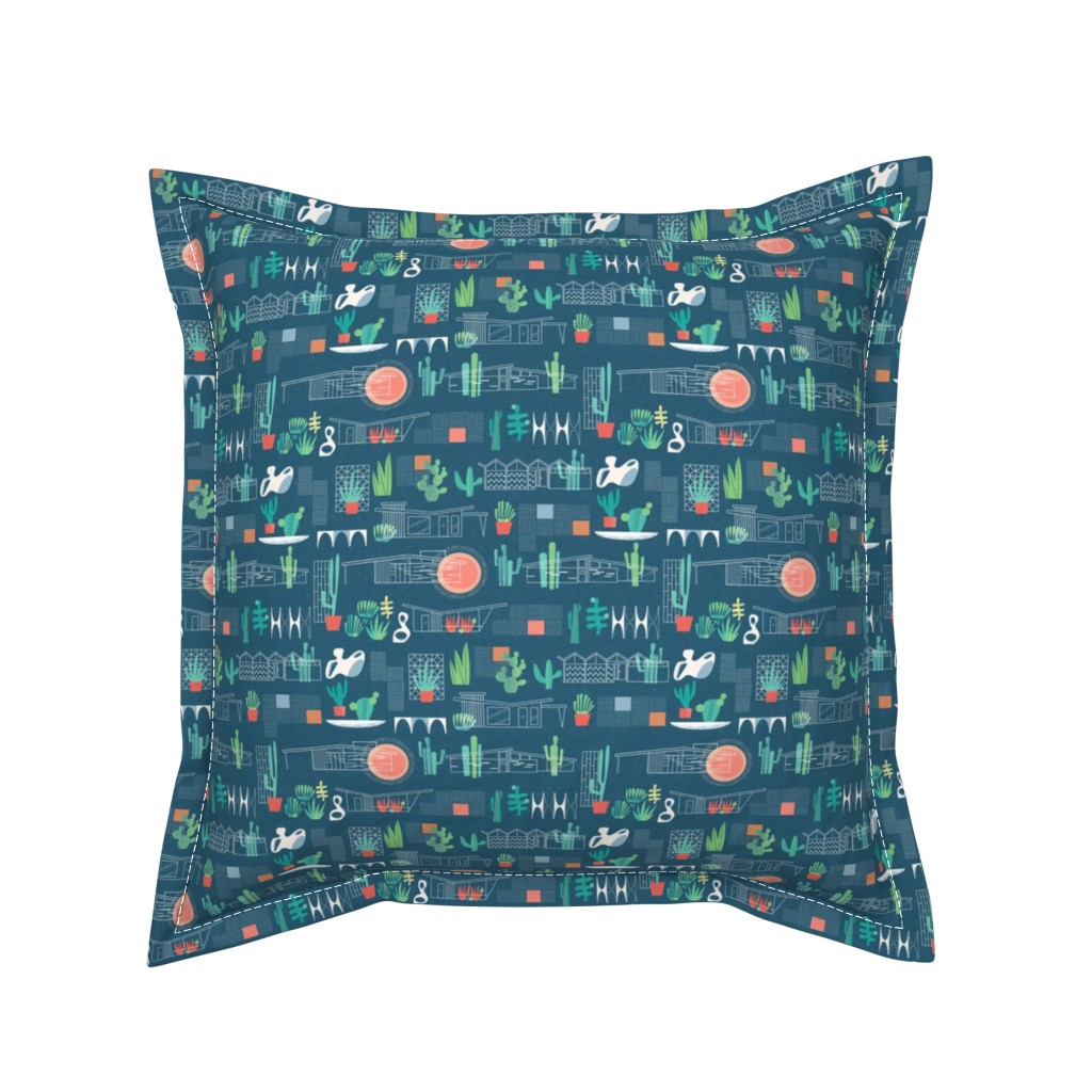 Serama Throw Pillow featuring Desert Modernism by edward_elementary