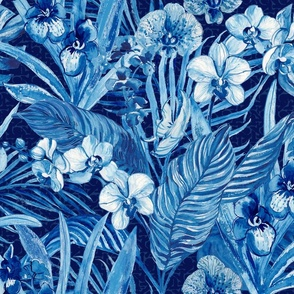 Blue Bohemian Orchids