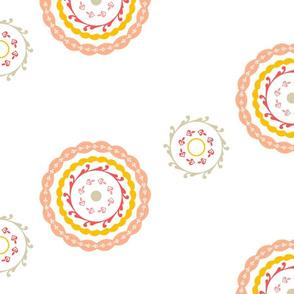 Simple Coral Mandala