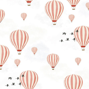 Hot Air Balloons over the Safari (Pink)
