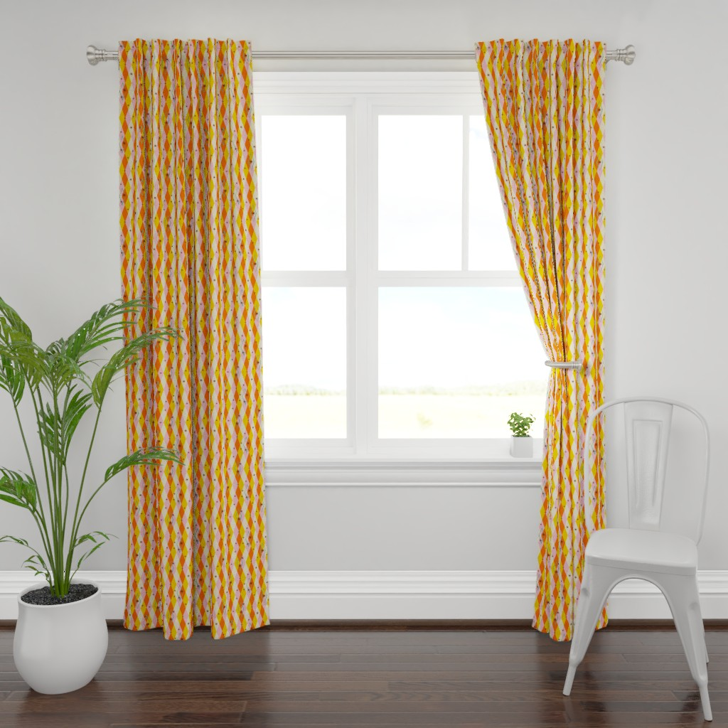 Plymouth Curtain Panel featuring Diamension #2 (vertical pattern) by tonyanewton