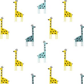 Giraffe blue giraffe baby boys pattern