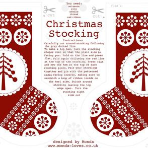 Christmas Stocking with Tree