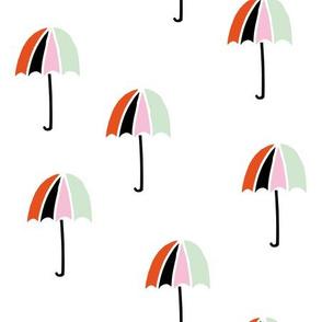 Umbrella rain weather kids pattern