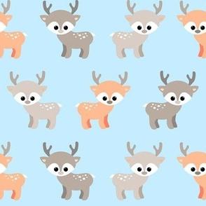 Little deer - blue