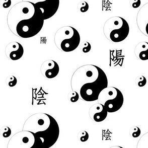 yin and yang - white
