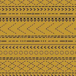 Minimal mudcloth bohemian mayan abstract indian summer aztec design mustard ochre yellow