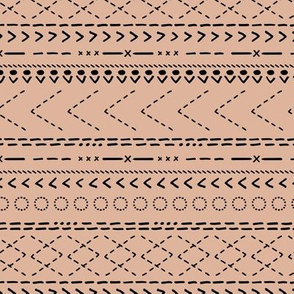 Minimal mudcloth bohemian mayan abstract indian summer aztec design gender nude