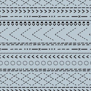 Minimal mudcloth bohemian mayan abstract indian summer aztec design ice winter blue