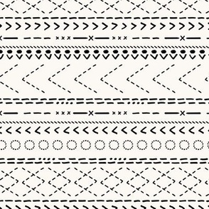 Minimal mudcloth bohemian mayan abstract indian summer aztec design off white black