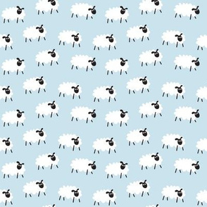 Counting Sheep - lt. blue