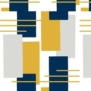 Rectangles in Blue, Gray and Yellow