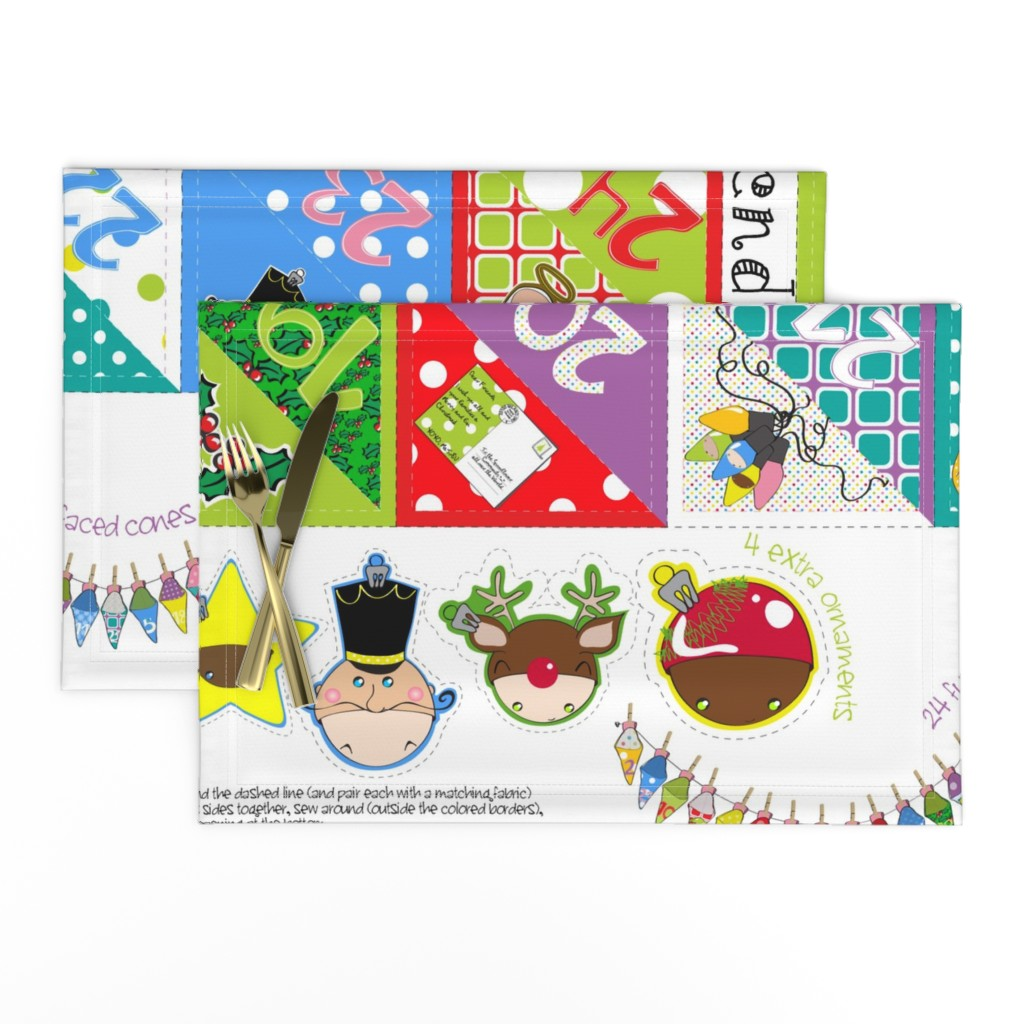 Lamona Cloth Placemats featuring Advent Carnival Calendar kit (with 24 double-faced cones + bonus) - pls zoom by majobv