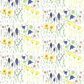 Cute little flower field