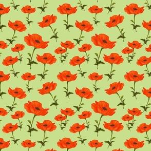 Poppy garden-green