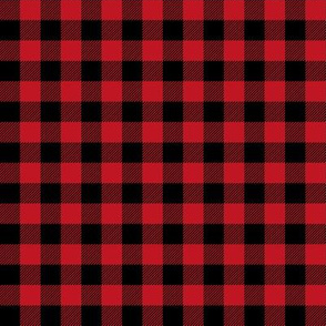 """1/2 """" buffalo plaid black and red kids cute nursery hunting outdoors camping red and black plaid checks"""