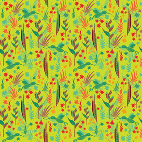 Tropical pattern green bg cropped