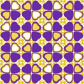 Lucky in love - purple and yellow