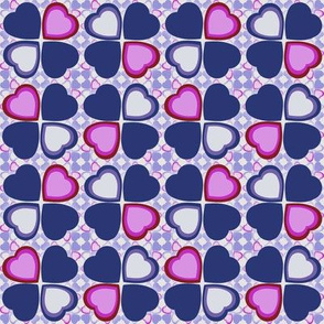 Lucky in love - navy and purple
