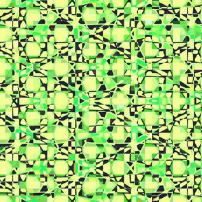 Mosaic - lime and black
