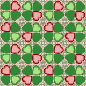 Lucky in love - green and pink