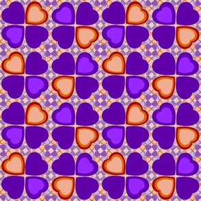 Lucky in love - purple and orange