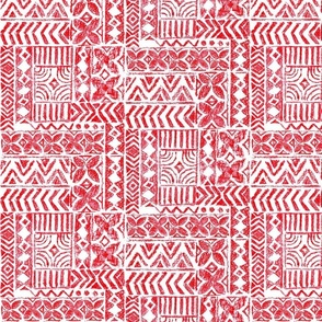 Hawaiian Vintage Tapa-Red