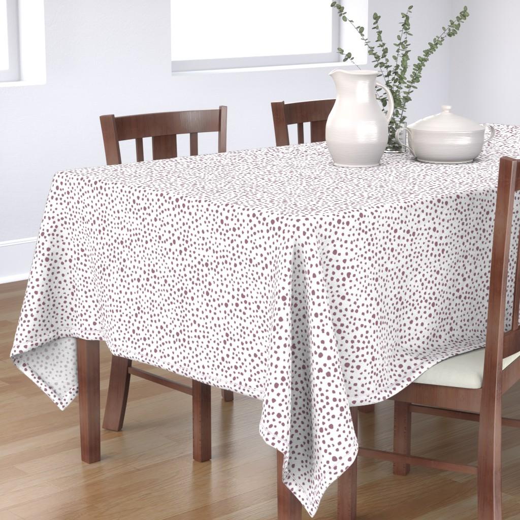 Bantam Rectangular Tablecloth featuring Mauve Speckles by taylor_bates_creative