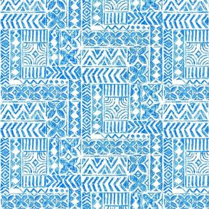 Hawaiian Vintage Tapa-blue