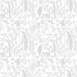 collectors garden  grey on white sm