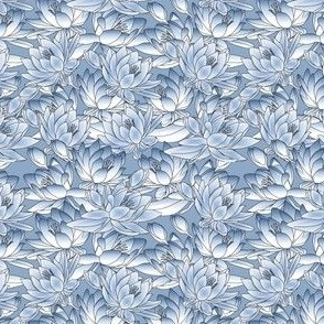 Celia Waterlilies Blue Fabric