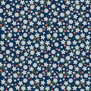 Dancing Blossom - Navy
