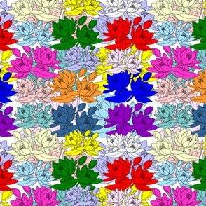 Celia Waterlilies Multi Color Fabric